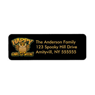 Personalised Owl-O-Ween Address Labels