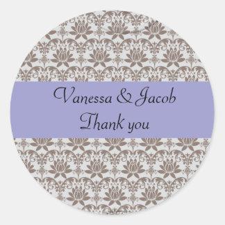 Personalised paisley damask stickers