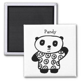 Personalised Pandy the Panda Magnet