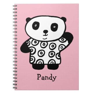 Personalised Pandy the Panda Spiral Notebook