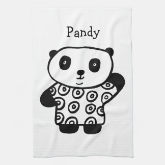 Personalised Pandy the Panda Tea Towel