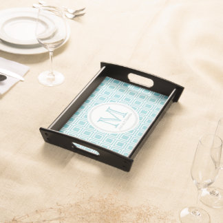 Personalised Paradise Blue & White Serving Tray 2