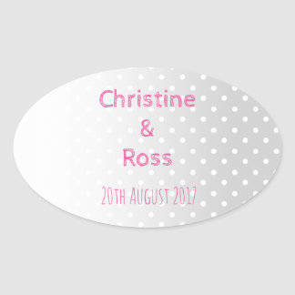 Personalised Pastel Dots Wedding Sticker
