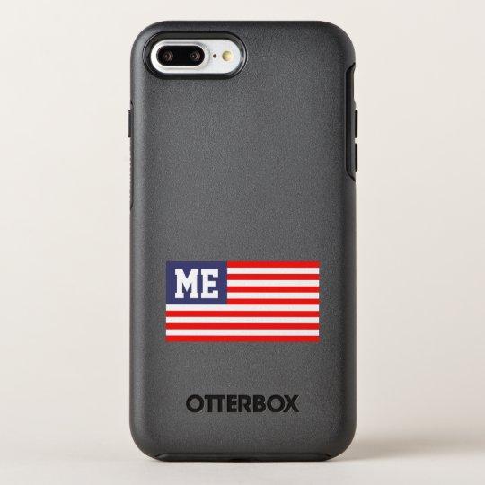 Personalised patriotic US American flag monogram OtterBox Symmetry iPhone 8 Plus/7 Plus Case