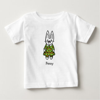 Personalised Penny the Rabbit Baby T-Shirt