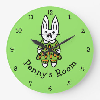 Personalised Penny the Rabbit Large Clock