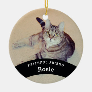 Personalised Pet Friend Add Name and Photo Ceramic Ornament