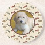Personalised Pet Photo Dog Bone Custom Picture Coaster