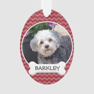 Personalised Pet Photo with Dog Bone Ornament