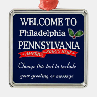 Personalised Philadelphia PA Christmas Ornament