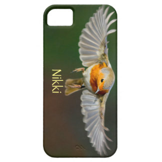 Personalised phone case with flying robin