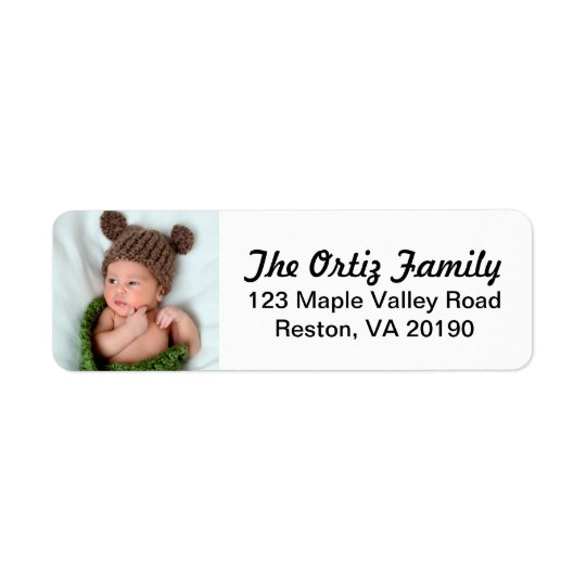 Personalised Photo Address Labels