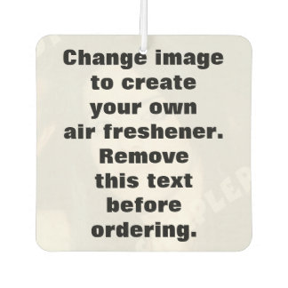 Personalised photo air freshener. Make your own! Car Air Freshener