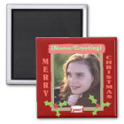 Personalised Photo Christmas Magnet