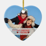 Personalised Photo First Christmas Together Heart