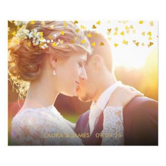 Personalised Photo Gold Hearts Confetti