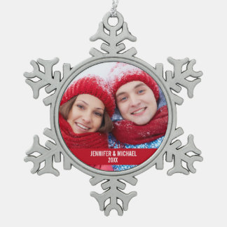 Personalised Photo Holiday Snowflake Ornament R