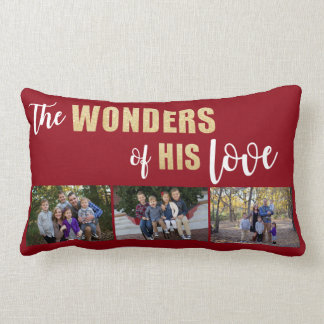 Personalised, Photo Holiday Throw Pillow