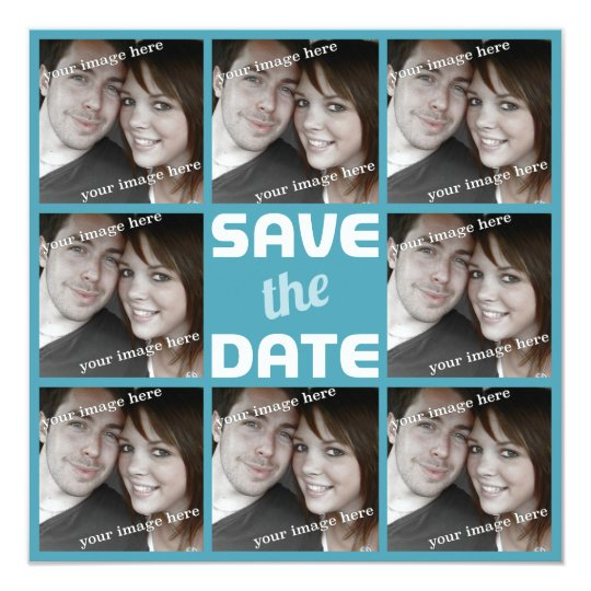 Personalised Photo Octet Save the Date Card