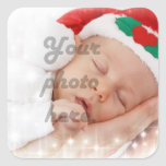 Personalised photo square sticker