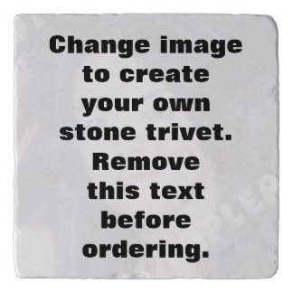 Personalised photo stone trivet. Make your own! Trivet