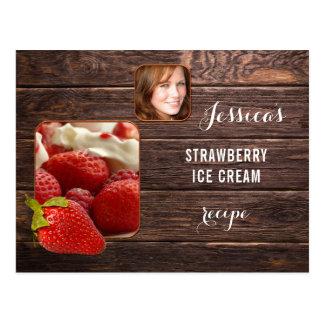 Personalised Photo Strawberry Recipe Postcard