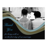 Personalised photo wedding thank you cards postcard