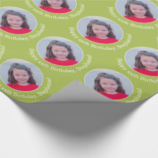 Personalised Photo with Birthday Greeting - Green