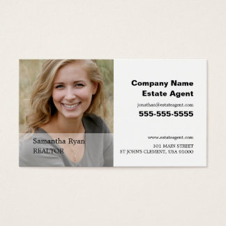 Personalised Photograph, Realtor, Estate Agent Business Card