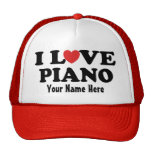 Personalised Piano I Love Heart Music Gift Hat