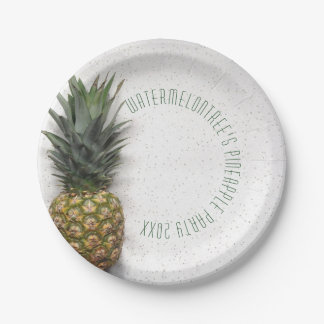 Personalised Pineapple Party Picnic Paper Plates