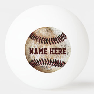 Personalised Ping Pong Balls for Baseball Lovers