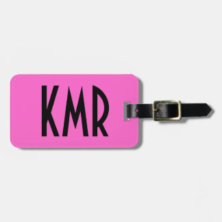 Personalised Pink and Black Luggage Tag