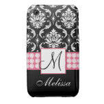 Personalised Pink Black Damask iPhone 3G Case iPhone 3 Covers