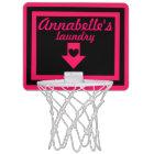 Personalised Pink & Black Girl's Basketball Hoop