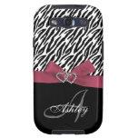 Personalised Pink, Black Zebra Stripes Monogram