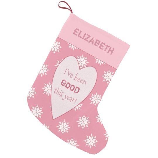 Personalised pink Christmas snowflakes
