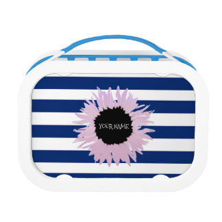 Personalised Pink Flower Lunch Box