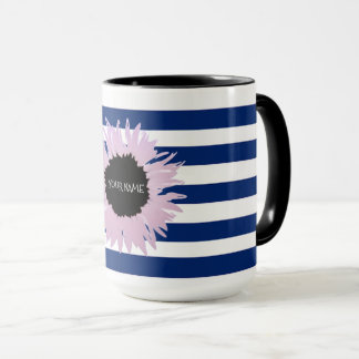 Personalised Pink Flower Mug