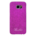 Personalised pink glitter Samsung S6 phone case
