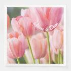 Personalised Pink Tulip Napkins Paper Napkin