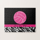 Personalised Pink Volleyball Puzzle