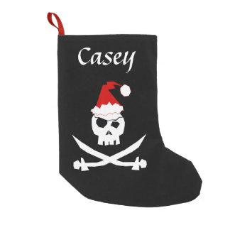 Personalised Pirate Santa Small Christmas Stocking