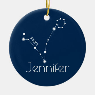 Personalised Pisces Constellation Ornament