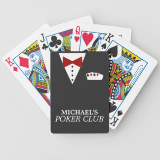 Personalised Poker Club Bicycle® Playing Cards