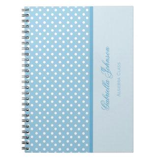 Personalised: Polka Dot Notebook