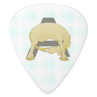 Personalised Pony Monogram A White Delrin Guitar Pick
