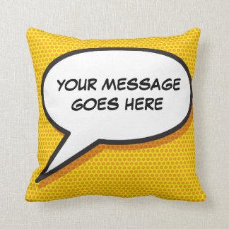 Personalised Pop Art Comic Book Speech Bubble Cushion