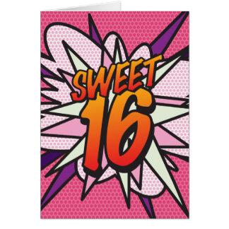 Personalised Pop Art SWEET 16 HAPPY BIRTHDAY Card