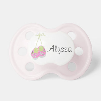 Personalised Posh Pink Shoes Baby Pacifier